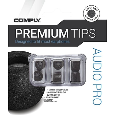 Comply Audio Pro Earphone Tips, Black, Large (29-00121-22)