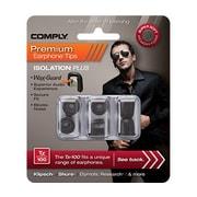 Comply Isolation Plus Tx-100 Earphone Tips, Black, Medium (19-10101-11)