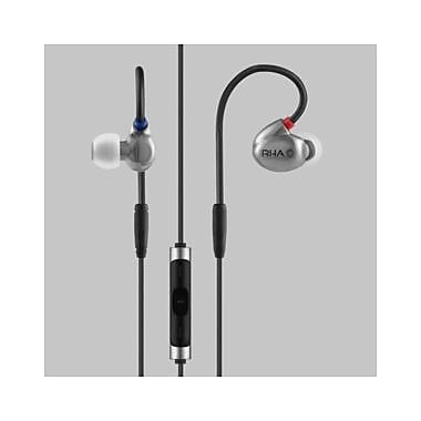 RHA T20i High Fidelity Noise Isolating DualCoil In-Ear Headphones with Remote, Silver (202021)