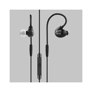 RHA T20i High Fidelity Noise Isolating DualCoil In-Ear Headphones with Remote, Black (202022)