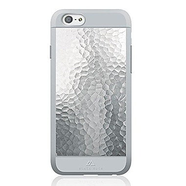 Black Rock Material Cell Phone Case for iPhone 6/6S, Hammered Silver (1010MHA08)