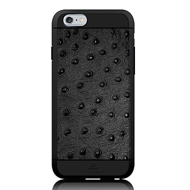 Black Rock Material Cell Phone Case for iPhone 6/6S, Ostrich Black (1010MOS02)