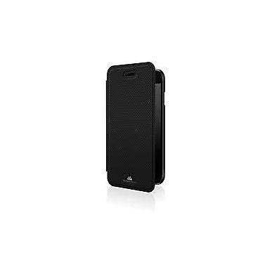 Black Rock Material Booklet Cell Phone Case for iPhone 6/6S, Pure Black (1012MPU02)