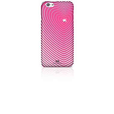 White Diamonds Heartbeat Cell Phone Case for iPhone 6/6S, Pink (1310HBT41)