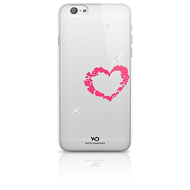 White Diamonds Lipstick Cell Phone Case for iPhone 6/6S, Heart (1310LIP61)