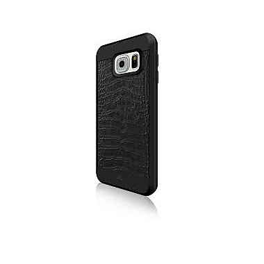 Black Rock Material Cell Phone Case for Galaxy S6, Croco Black (2010MCR02)
