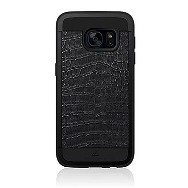 Black Rock Material Cell Phone Case for Galaxy S7, Croco Black (2040MCR02)