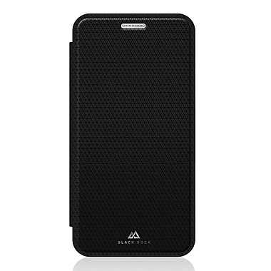 Black Rock Material Booklet Cell Phone Case for Galaxy S7, Pure Black (2042MPU02)