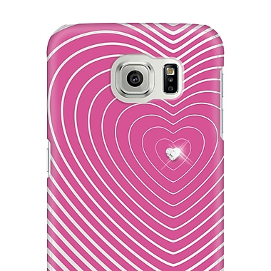 White Diamonds Heartbeat Cell Phone Case for Galaxy S6