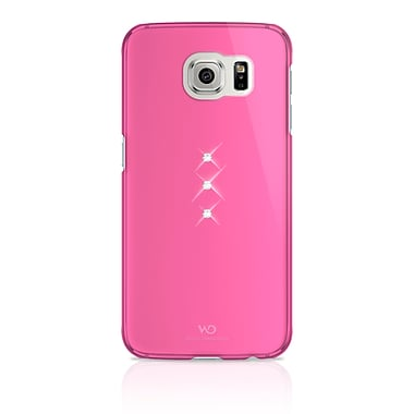 White Diamonds Trinity Cell Phone Case for Galaxy S6, Pink (2510TRI41)