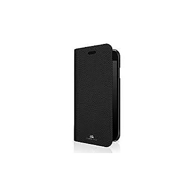 Black Rock Material Booklet Cell Phone Case for iPhone 6/6S/7, Pure Black (1027MPU02)