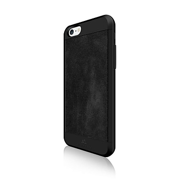 Black Rock Material Cell Phone Case for iPhone 6/6S, Suede Black (1010MSU02)