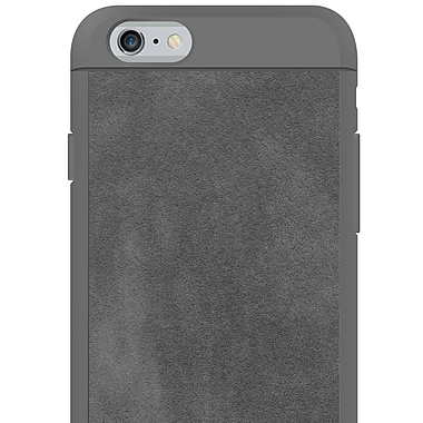 Black Rock Material Cell Phone Case for iPhone 6/6S, Suede Grey (1010MSU03)
