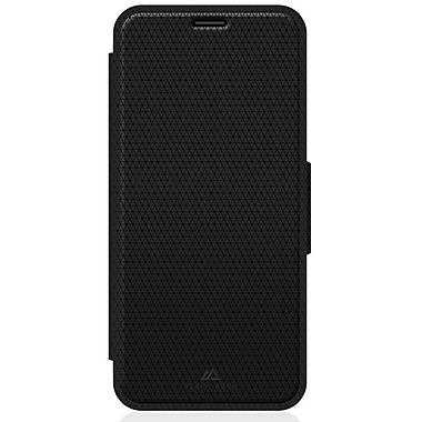 Black Rock Material Booklet Cell Phone Case for iPhone 6/6S, Pure Black (1011MPU02)