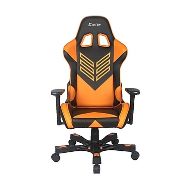 Crank Series Professional Grade Gaming & Computer Chair in Black & Orange