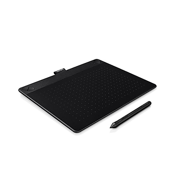 Wacom – Tablette tactile et à stylet créative Intuos 3D, moyenne, noir