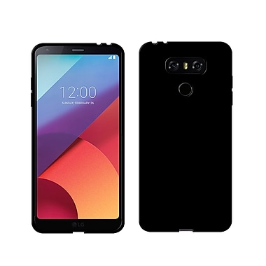 LBT Ultra Slim Gel Skin Cell Phone Case for LG G6, Black (G6BK1)