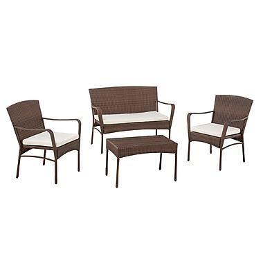 Best Desu – Ensemble de meubles d'extérieur 4 pièces de la collection Leisure (SW1616)