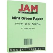 JAM Paper® Matte Paper, 8.5 x 11, 28lb Mint Green, 50/pack (16732385)