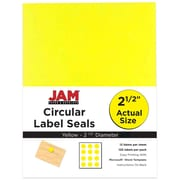 JAM Paper® Mailing Address Labels, 1 x 2 5/8, Yellow, 120/pack (302725801)
