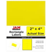 JAM Paper® Mailing Address Labels, 2 x 4, Yellow, 120/pack (302724410)