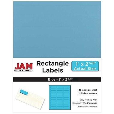 JAM Paper® Mailing Address Labels, 1 x 2 5/8, Blue, 120/pack (302725762)