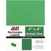JAM Paper® Mailing Address Labels, 2 x 4, Green, 120/pack (302725774)