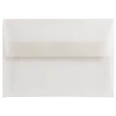 JAM Paper® 4bar A1 Envelopes, 3 5/8 x 5 1/8, Clear Translucent Vellum, 1000/carton (900797921B)
