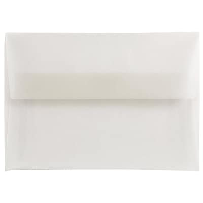 JAM Paper® 4bar A1 Envelopes, 3 5/8 x 5 1/8, Clear Translucent Vellum, 25/pack (900797921)