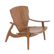 Cole & Grey Arm Chair; Brown