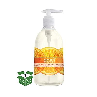 Seventh Generation™ Natural Hand Wash Soap, Mandarin Orange & Grapefruit, 12 oz. Pump Bottle, 8/Carton (22925)
