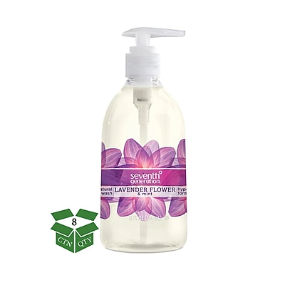 Seventh Generation™ Natural Hand Wash Soap, Lavender Flower & Mint, 12 oz. Pump Bottle, 8/Carton (22926)