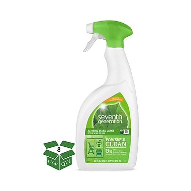 Seventh Generation™ Natural All-Purpose Cleaner, Free & Clear, Unscented, 32 oz. Spray Bottle, 8/Carton (22719)