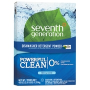 Seventh Generation™ Natural Automatic Dishwasher Detergent Powder, Free & Clear, Unscented, 45 oz. Box (22150)