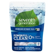Seventh Generation™ Natural Automatic Dishwasher Detergent Packs, Free & Clear, Unscented, 20 Packs/Bag (22818)