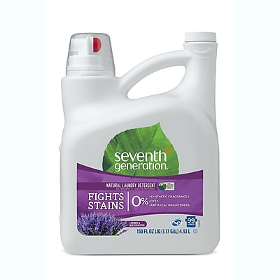 Seventh Generation™ Natural Liquid Laundry Detergent, Blue Eucalyptus & Lavender, 99 Loads, 150 oz. Bottle (22794)