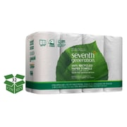 Seventh Generation? 100% Recycled Paper Towel Rolls, 2-Ply, White, 11 x 5.4 Sheets, 156 Shts/Roll, 8 Rls/Pack, 32 Rls/Ct (13739)
