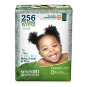 Seventh Generation™ Free & Clear Baby Wipes, 256 Wipes/Pack (34219)