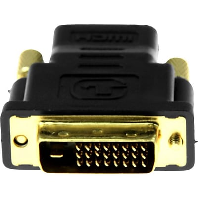 Rocstor Premium HDMI to DVI-D Video Cable Adapter, F/M, 1 x HDMI Female Digital Audio/Video, 1 x DVI-D Male Digital Video F/M