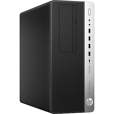 HP EliteDesk 800 G3 Desktop Computer, Intel Core i7 i7-7700 3.60GHz, 16GB DDR4 SDRAM, 512GB SSD, Windows 10 Pro 64-bit (English)