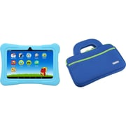 "Tablet Express Dragon Touch Y88X Plus Kids 7"" Tablet Disney Edition, Kidoz Pre-Installed, Android 5.1, Blue with Case Bag Blue"