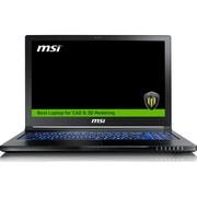 "MSI WS63 7RK-280US 15.6"" LCD Mobile Workstation, Intel Core i7 (7th Gen) i7-7700HQ 4 Core 2.80 GHz, 16GB DDR4 SDRAM, 2TB HDD"