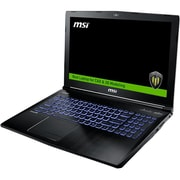 "MSI WE62 7RJ-1832US 15.6"" LCD Mobile Workstation, Intel Core i7 (7th Gen) i7-7700HQ 4 Core 2.8GHz, 16GB DDR4 SDRAM, 512GB SSD"