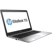 "HP EliteBook 755 G4, 15.6"" Laptop Computer, AMD A-Series A12-9800B, 256 GB SSD, 8GB, Windows 10 Pro (1FX49UT#ABA)"