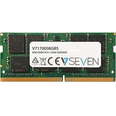 V7 8GB DDR4 PC4-17000, 2133Mhz SO DIMM Notebook Memory Module, V7170008GBS