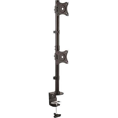 StarTech.com Vertical Dual Monitor Mount, Heavy Duty Steel, For VESA Mount Monitors up to 27in (22lb/10kg), Adj Dble Monitor Mnt