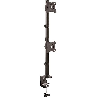 StarTech.com Vertical Dual Monitor Mount, Heavy Duty Steel, For VESA Mount Monitors up to 27in (22lb/10kg), Adj Dble Monitor Mnt