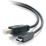 C2G 12ft USB 2.0 USB-C to USB-B Cable M/M, Black