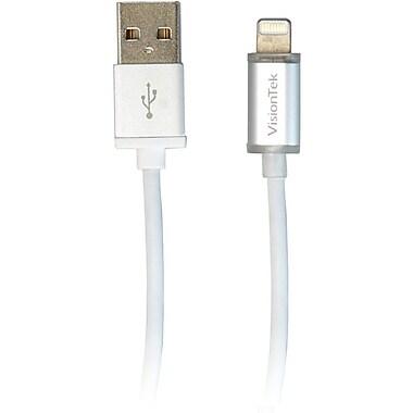 Visiontek Lightning to USB Smart LED 4 Foot 1.2 Meter MFI Cable (900895)