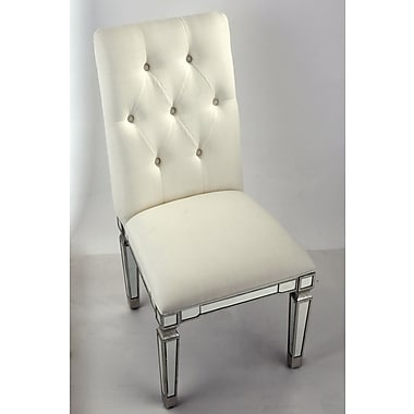 Elegant Lighting Florentine Side Chair; Silver